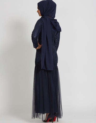Grace Navy Evening Dress