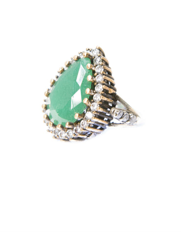 AMINA GREEN RING - Haute Elan
