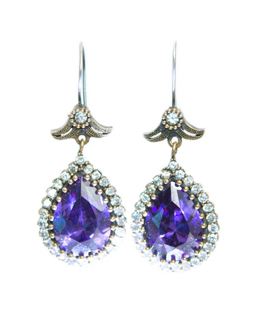 AMINA AMETHYST QUARTZ EARRINGS - Haute Elan