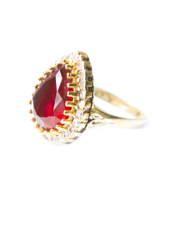 RUBY AMINA RING - Haute Elan