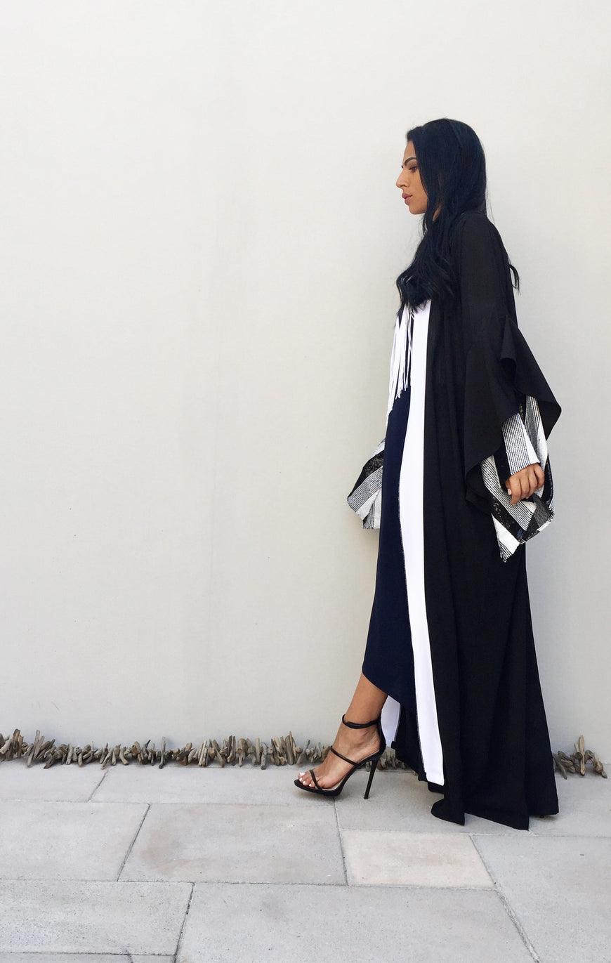 Double Layer Sleeve Abaya