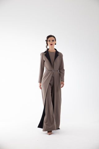 Aya Black/Grey Reversible Coat