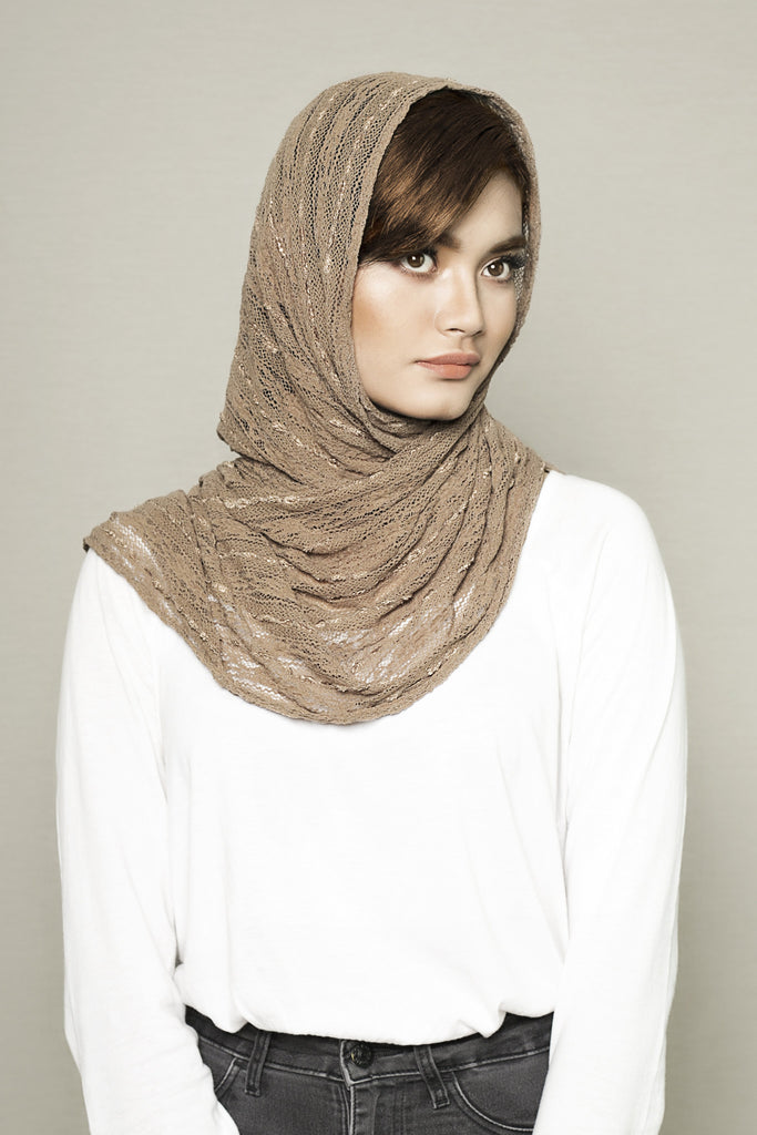 Army Brown Knitted Scarf - Haute Elan