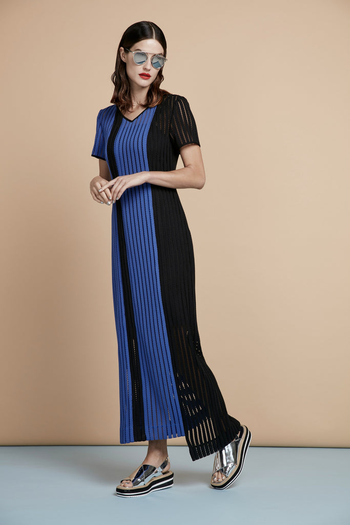 Straight-Cut Asymmetric Maxi Dress - Haute Elan