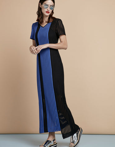 Straight-Cut Asymmetric Maxi Dress