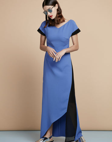 Asymmetric High-low Maxi Dress - Haute Elan