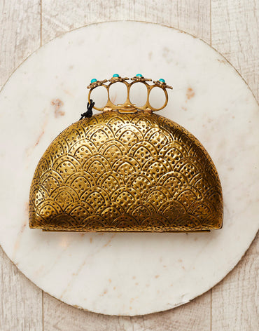 Iris Ring Clutch Gold