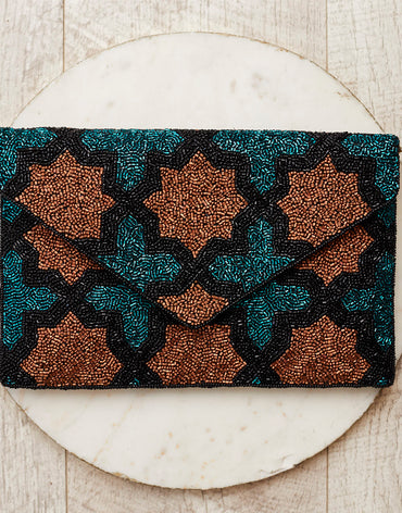 Orla beaded handcrafted clutch