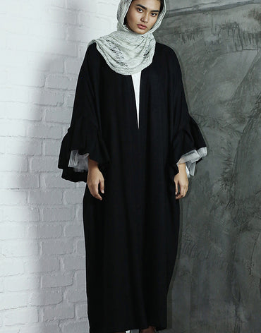 Bubble Sleeved Abaya - Haute Elan