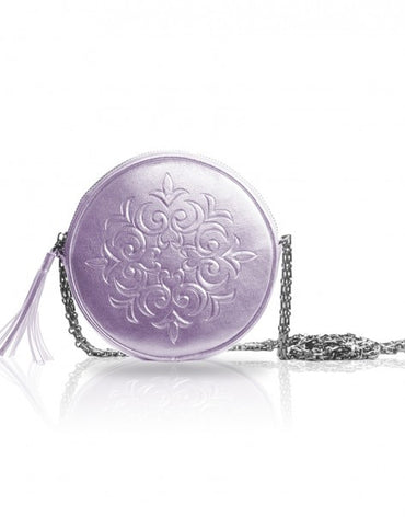 Metallic Lilac Cross-body Pouch Bag - Haute Elan