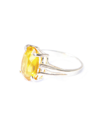 CANARY YELLOW COCKTAIL RING - Haute Elan