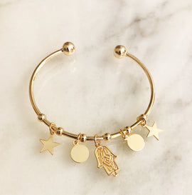 Charms and Hand of Fatima bracelet