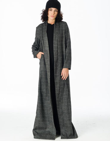 Dark grey squared over jacket/kimono