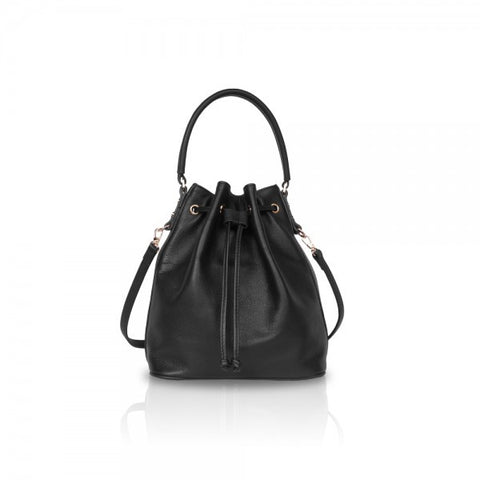 Black Mini Drawstring Bag - Haute Elan