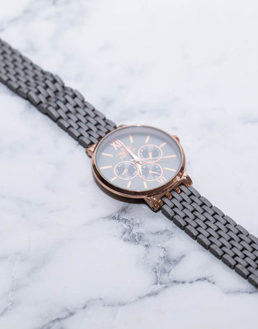Classic Grey and Rose Gold Watch