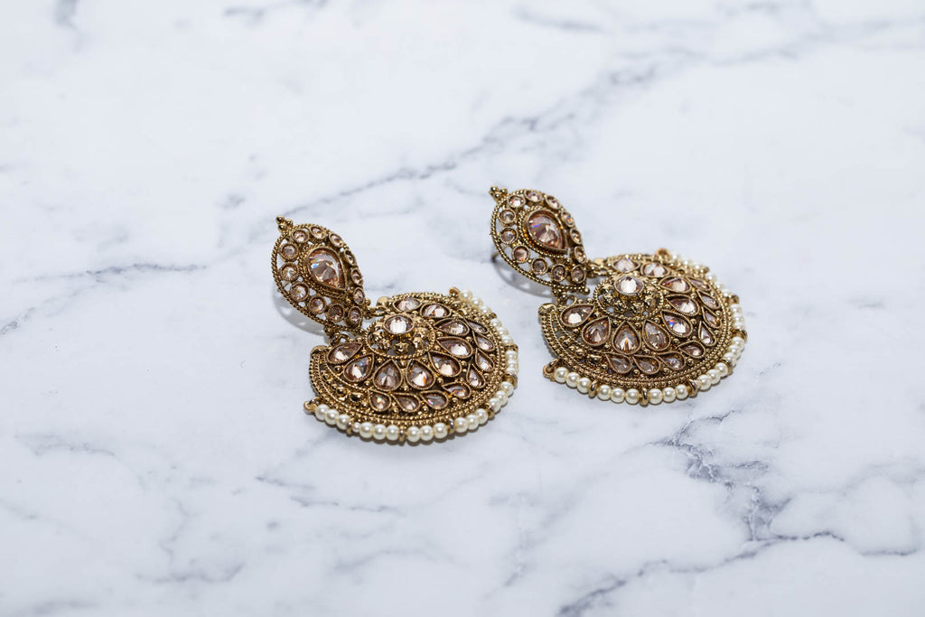 Royal Bali Earings With White Pearls