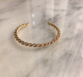 Gold twist detail bracelet