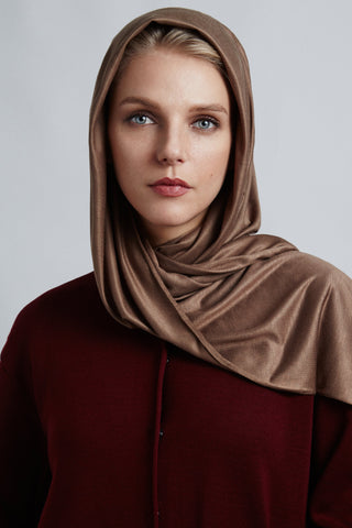 Light Brown Jersey Scarf