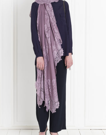 LILAC LACE SCARF - Haute Elan