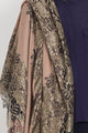 Pashmina Shawl with Golden Lace - Haute Elan