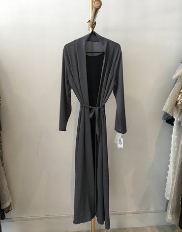 Nooria Closed double abaya with attached inner slip