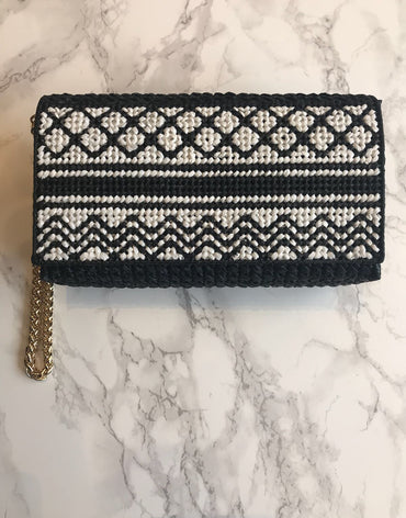 Embroidered Handmade Clutch - Kofia - Haute Elan