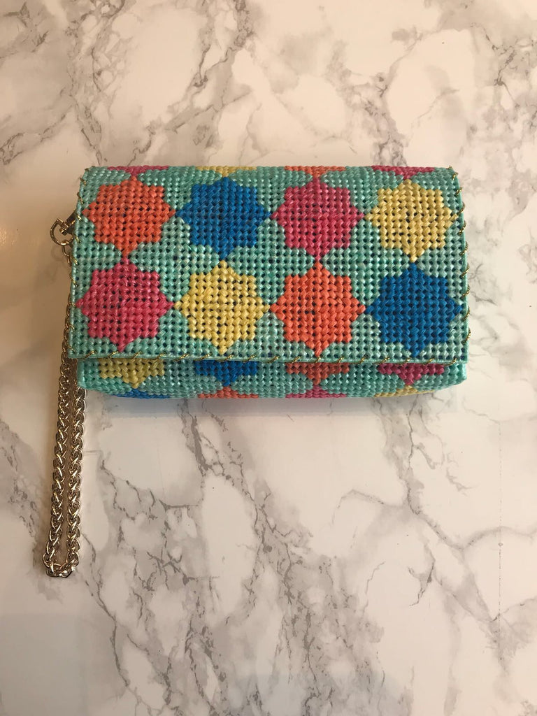 Embroidered Handmade Clutch - Thamania Multi (Small) - Haute Elan