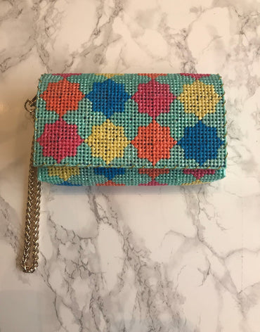Embroidered Handmade Clutch - Thamania Multi (Small)