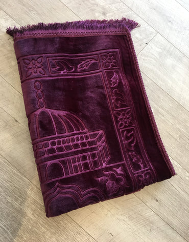 Contemporary Prayer Mat - Sejadah in Purple - Haute Elan