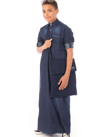 BLUE DENIM JUBBA - Haute Elan