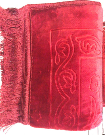 Royal Red Padded Prayer Mat - Sejadah - Haute Elan