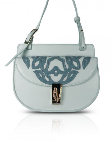 Light Blue Mini Moon Cross-body Bag - Haute Elan