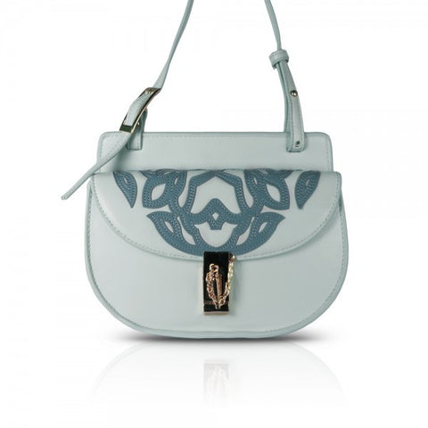 Light Blue Mini Moon Cross-body Bag
