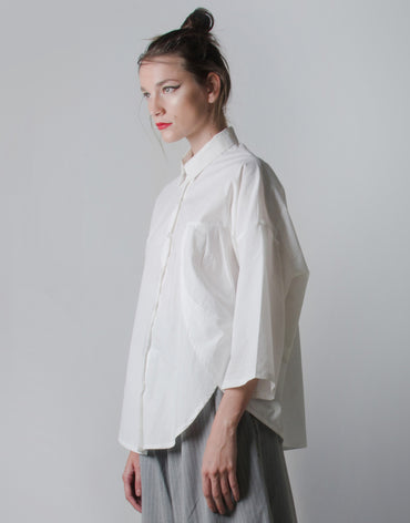 Katsumi White Oversized Shirt