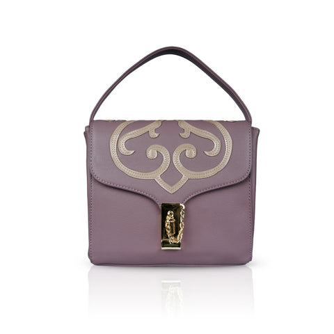 Mauve Boxy Clutch Bag