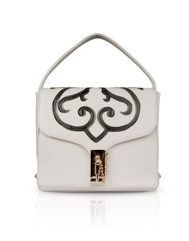 White Boxy Clutch Bag - Haute Elan