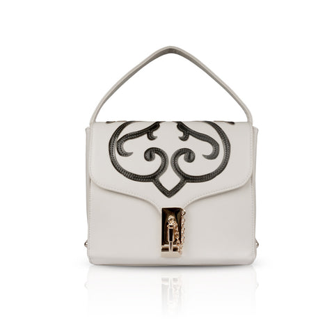 White Boxy Clutch Bag