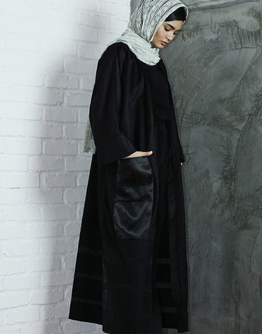Limited Edition Striped Black Abaya