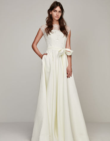 Grosgrain Off-White Maxi Dress