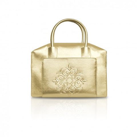 Gold Mini Duffle Tote Bag