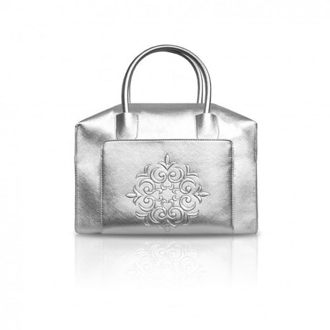 Silver Mini Duffle Tote Bag