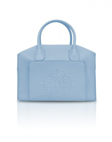 Pastel Blue Mini Duffle Tote Bag - Haute Elan