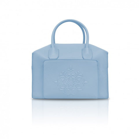 Pastel Blue Mini Duffle Tote Bag