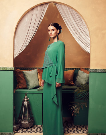 Sarra Pleated Kurung Set - Haute Elan