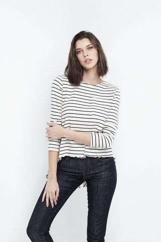 Relaxed Striped Navy Top
