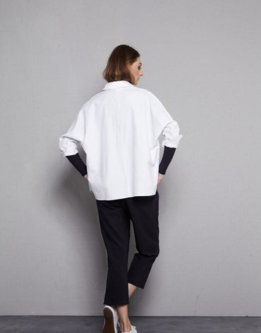 White Over-sized Shirt - Haute Elan