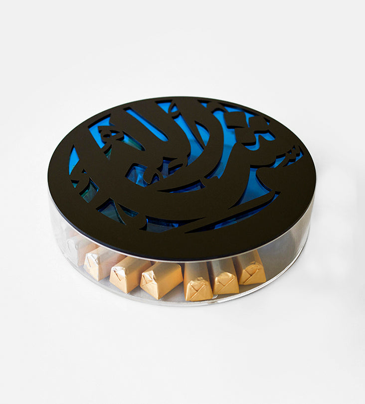 Masha'Allah Box-Regular Blue & Black - Haute Elan