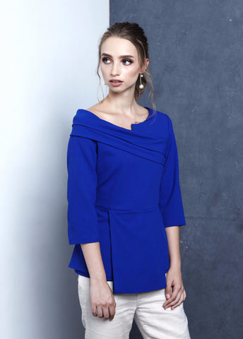 Cobalt Structured Blouse