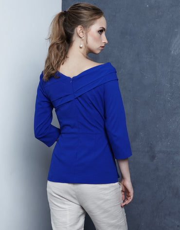 Structured Fold Blouse