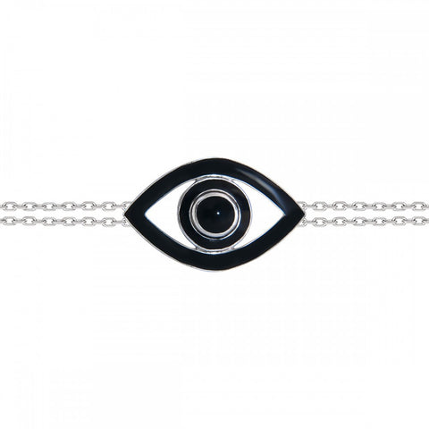Fortuna Big Eye Black Bracelet